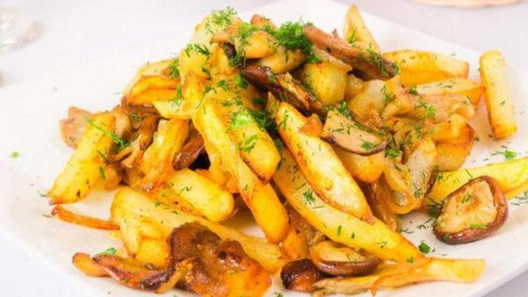 Картофель жареный с грибами 1/150г