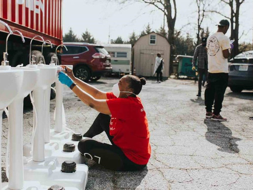 Portable handwashing stations help the homeless protect against coronavirus