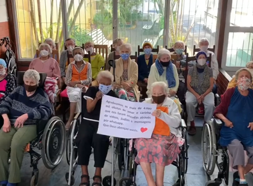 Home for the elderly receives over 8000 messages following the creation of a campaign foraffection