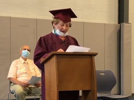 Holocaust survivor's dream of getting a diploma comes true