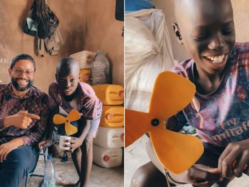 11-year old boy creates solar-powered ventilator