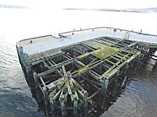 Helensburgh Pier Damage