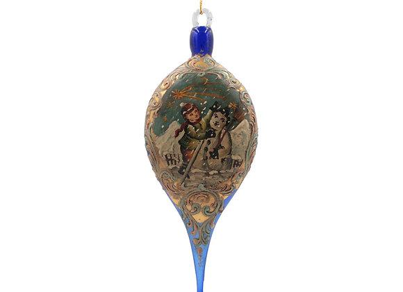Goccia Murano blu / Blue Muran Drop