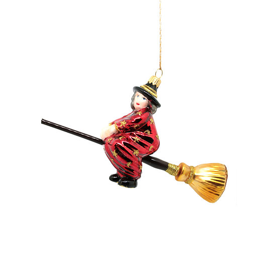 Befana con scopa / Christmas witch with broom