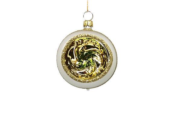 Sfera reflector vortice oro e verde / Gold and green sphere