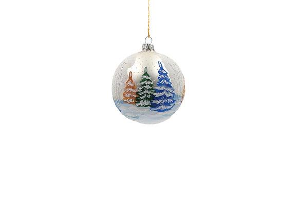 Sfera con alberi innevati / Sphere with tree and snow