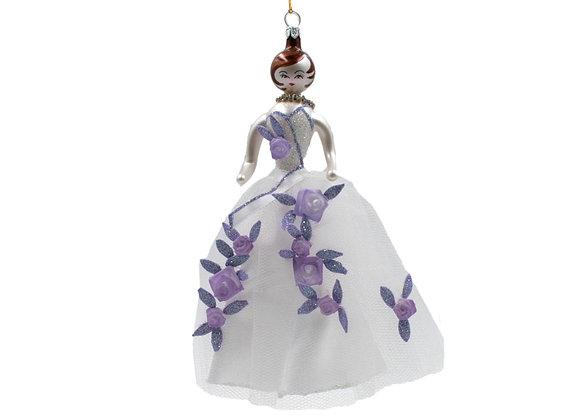 Damina con abito a fiori / Woman with flower dress