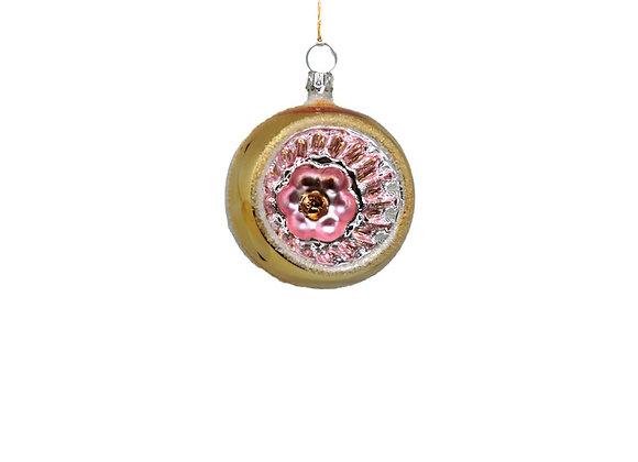 Sfera reflector oro e rosa / Gold and pink reflector sphere