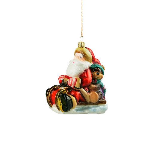 Babbo in slitta / Santa on sled