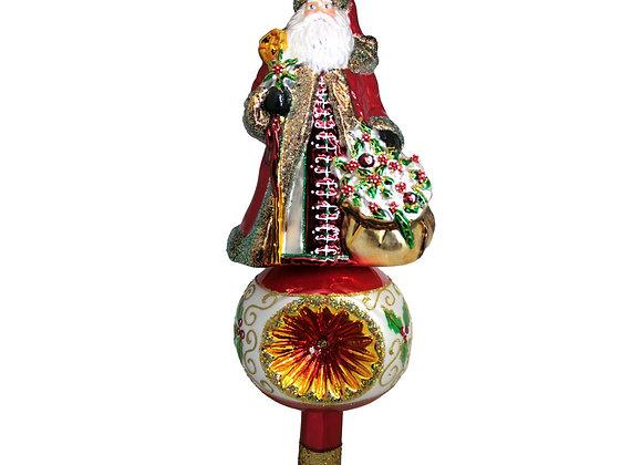 Puntale babbo rosso / Red Santa topper