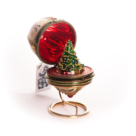 Scrigno con albero / Hinged Egg Christmas Tree
