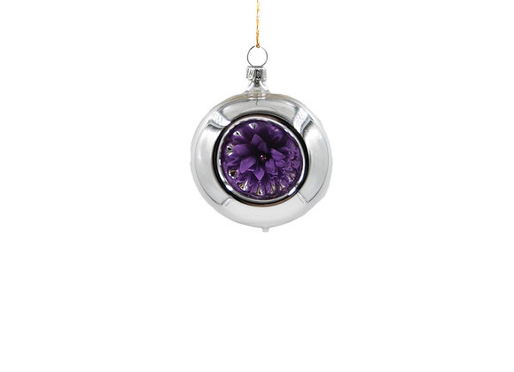 Sfera con fiore viola / Sphere with purple flower