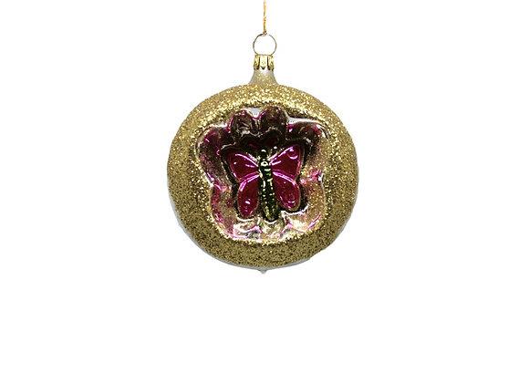 Sfera con farfalla rosa / Sphere with pink butterfly