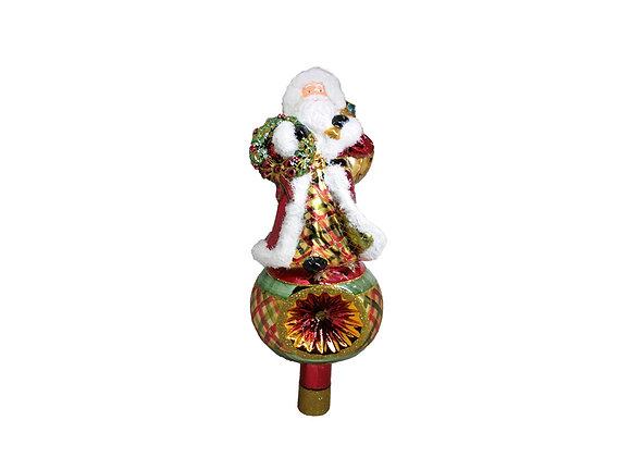 Puntale Babbo con ghirlanda/ Santa with garland topper