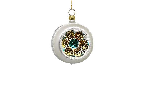 Sfera reflector oro e turchese / Gold and turquoise reflector sphere