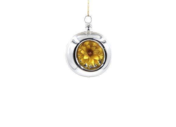 Sfera con fiore giallo / Sphere with yellow flower