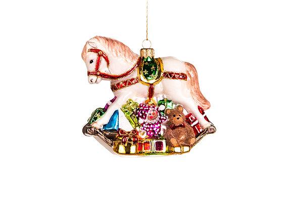 Cavallo a dondolo con giochi / Rocking horse with toys