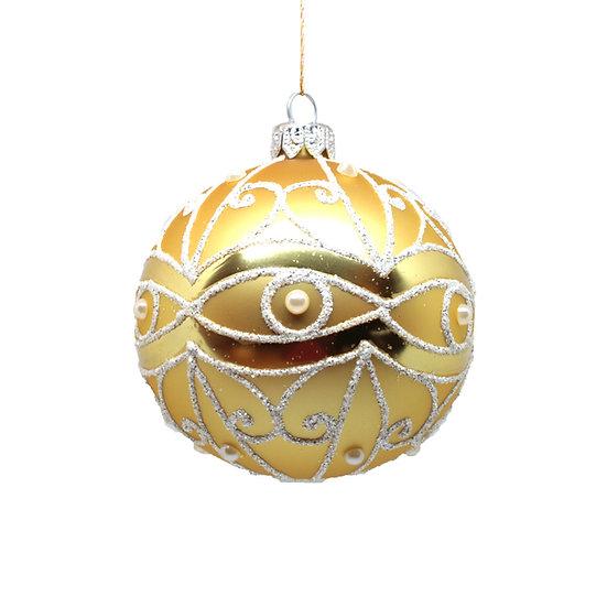 Sfera oro satinato grande / Big gold matt sphere