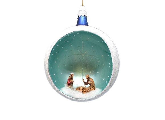 Sfera Natività blu/ Blue Nativity sphere