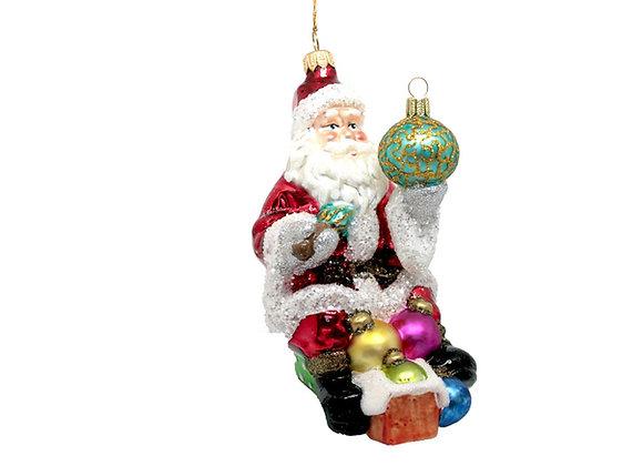Babbo con palla di Natale / Santa with christmas ball