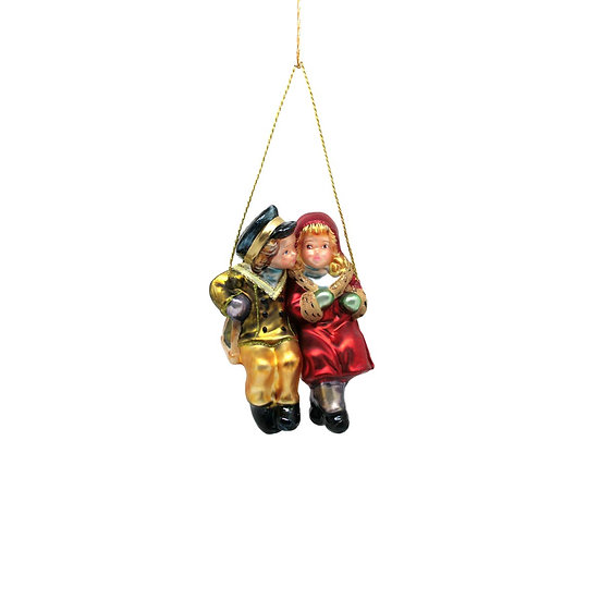 Bimbi in altalena /Couple on swing