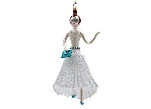 Damina con abito plissè / Woman with plissè dress