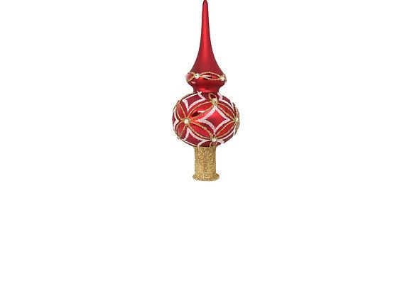 Puntale rosso opaco / red matt topper