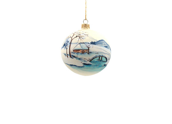 Sfera bianca con paesaggio / White sphere with landscape