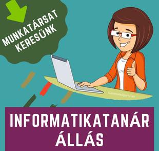 Informatikatanári álláslehetőség