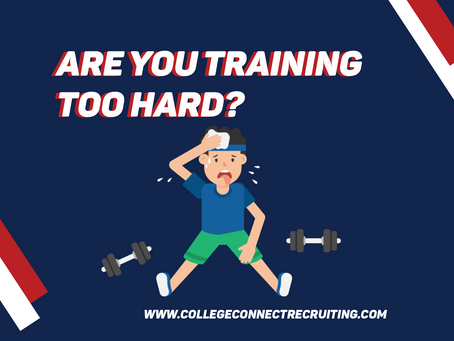 Are you training too hard?