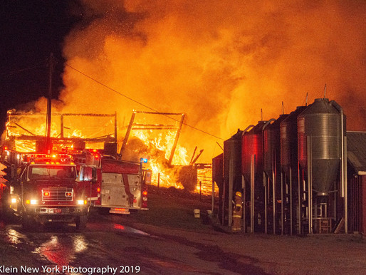 400 chickens lost in blaze at Hilly Acres Farm on Sander Road