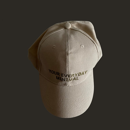 Your Everyday Minimal Cap in Beige/Khaki Embroidery