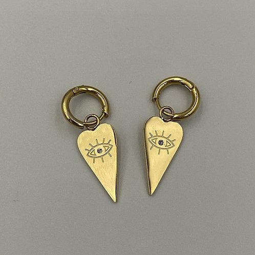Rear Love Charm Earrings