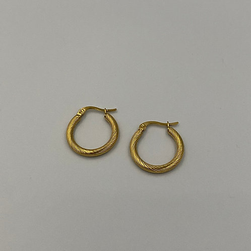 Slow Days Large Hoops 22mm