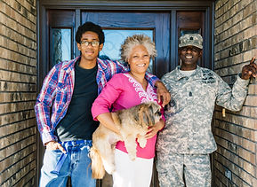 Military family control stress with online therapy