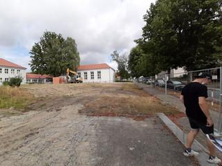 Bauarbeiten an der Schule