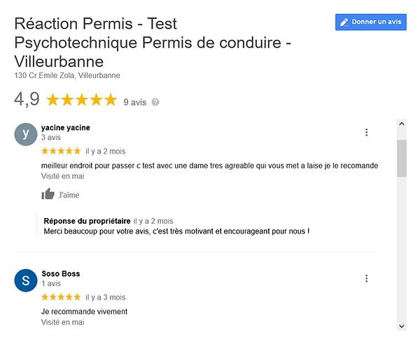 Test Psychotechnique Permis de conduire - Villeurbanne