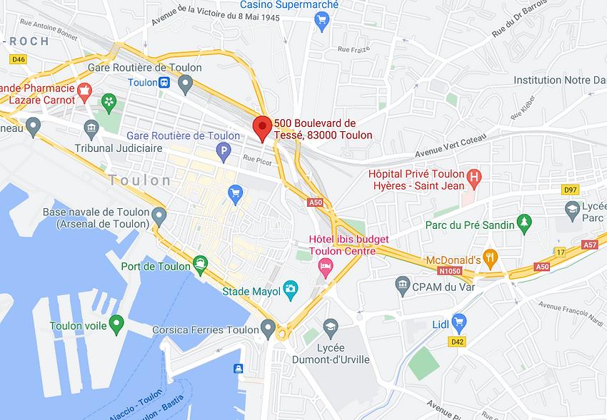 Toulon test permis de conduire