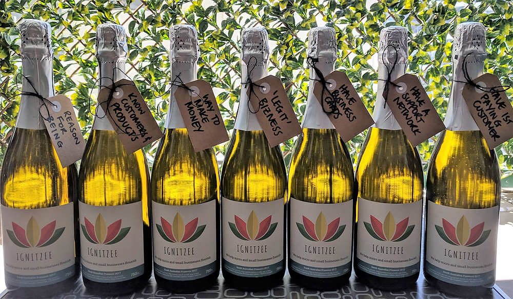 Sparking wine for celebrating small business milestones