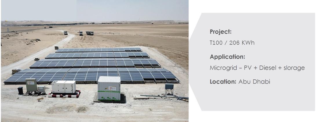 Abu Dhabi - Microgrid PV + Diesel + Stor