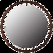 Miroir bois laiton