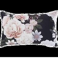 Coussin floral noir rose.png