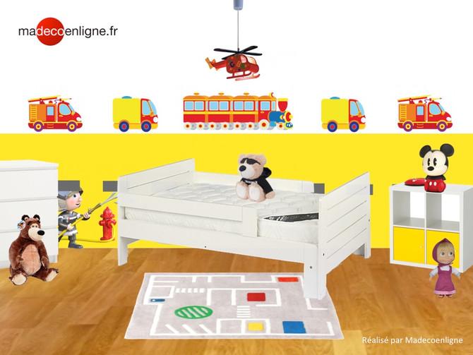 Une chambre tonique et ludique pour le petit Raphaël, 2 ans