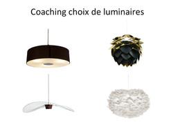 Coaching choix luminaires