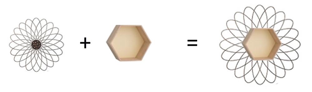 DIY sticker étagère hexagonale