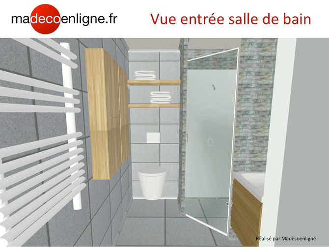 Une salle de bain moderne, nature et zen dans un appart neuf en VEFA