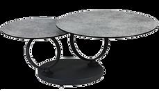 Table basse double plateaux béton méta