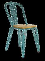 Chaise métal bleu et bois.png