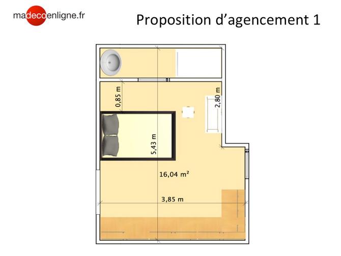 Avant/après : Une suite parentale sur plan de 19 m2 bien optimisée
