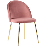 Chaise velours rose pied doré.png